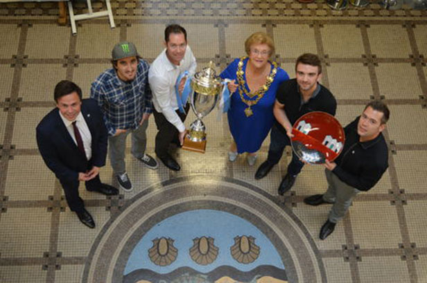 Poole Pirates with Cllr Ann Stribley