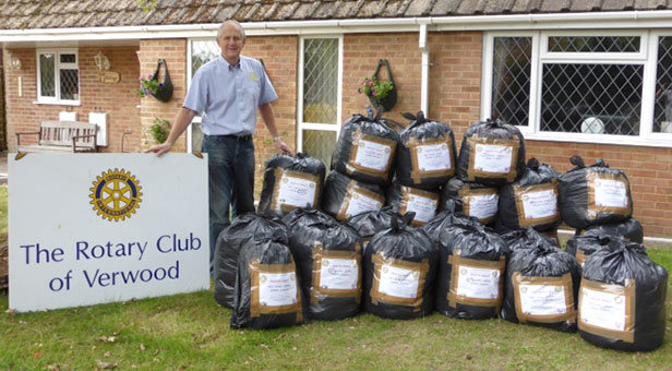 Past President of Verwood Rotary Club, Clive Grove