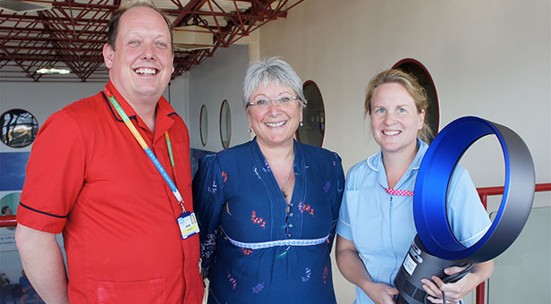 Dyson fans donated to the Royal Bournemouth Hospital