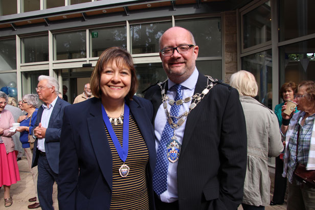 Councillors Steven and Cathy Lugg