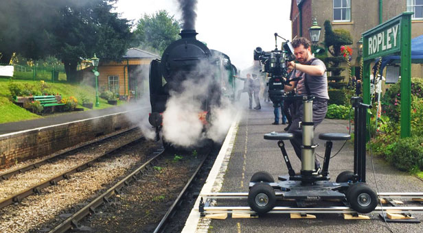 Filming-on-the-watercress-line