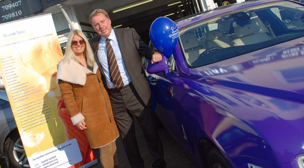 HIGH ROLLERS: Harry Redknapp with Adrienne Segal, who has hired the Rolls Royce for a day out with her friends.