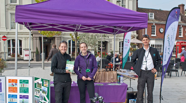 Christchurch & East Dorset Councils' Health & Activity Rangers Lucy Savage, Tiffiny Read and Marc Thompson