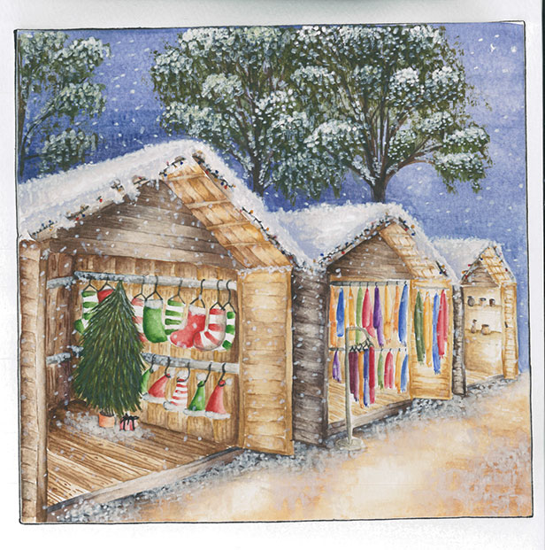 Christmas card designed by a Ferndown Upper School student