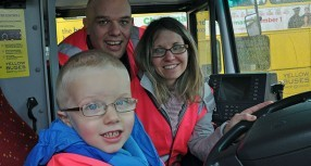 Bus mad Thomas has depot tour