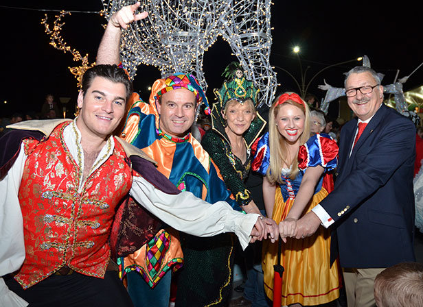 Stars from the BIC Panto Snow White at Bournemouth's Castlepoint Shopping Park