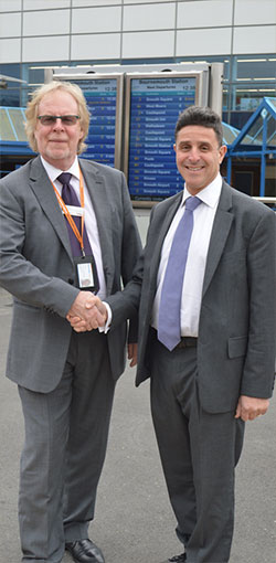 John Collins, Bournemouth's Station Manager and Councillor Mike Greene, Cabinet Member for Transport