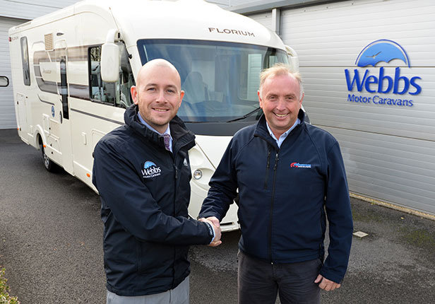 Guy Tegg and Dave Wolfenden (right) with one of the new luxury Florium motorhomes