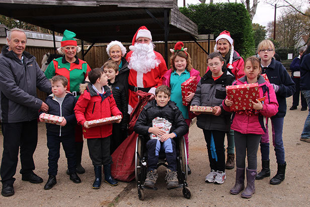 Santa at the Green Cottage Riding for the Disabled group