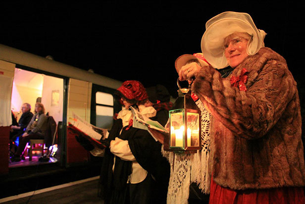 Christmas carols at Swanage Railway