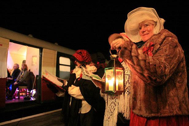 Christmas carols at Swanage Railway