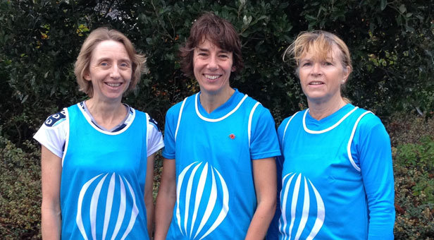 Crazy Chicks: (L to R) Claire Woods, Carole Loader and Pat Everitt