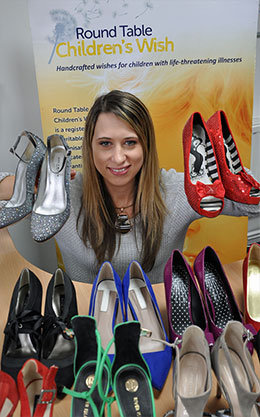 Samantha Read with some shoes