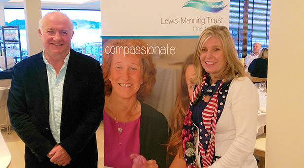 Rick Stein with Sally Goodenough, events and legacy fundraiser at Lewis-Manning