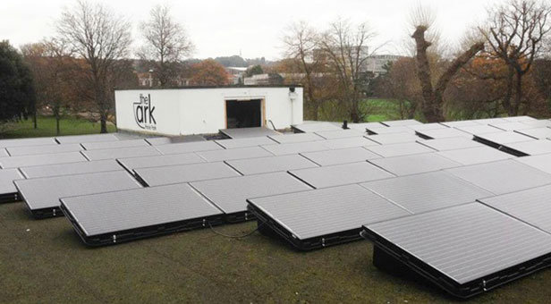 Solar panels in Poole Park