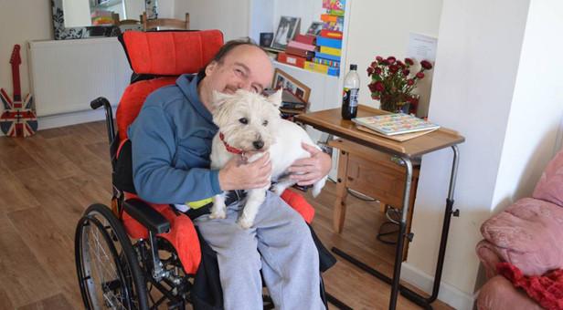 Ian with his dog Stitch