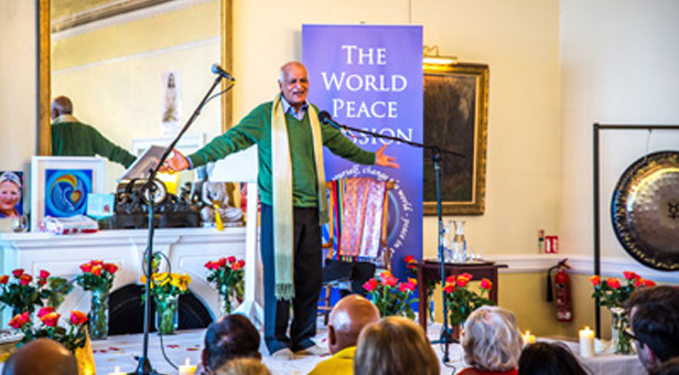 Satish Kumar at last year's World Peace Mission Conference