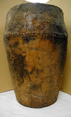 Bronze Age burial urn. Courtesy of the Priest's House Museum Collections Trust