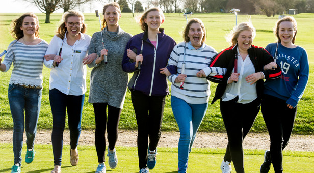 Some of the Dorset Ambassadors for Girls Golf Rocks (© Leaderboard Photography)