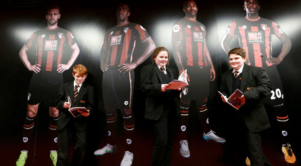 IN THE FOOTSTEPS OF GIANTS: St Aldhelm's students visited the players' tunnel and dressing rooms as part of their tour of the Vitality Stadium