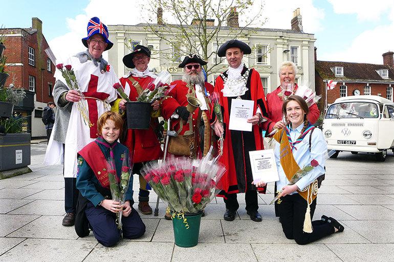 St George's Day, Wimborne