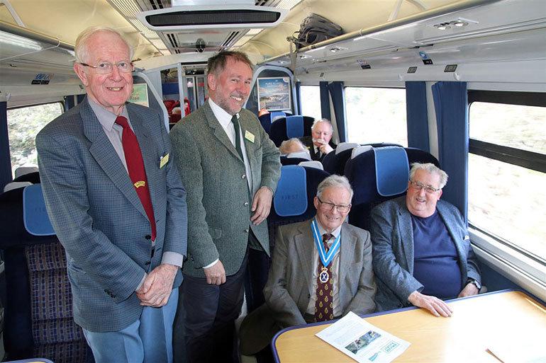 Swanage Railway Trevor Parsons, Gavin Johns, Sir Philip Williams and Sir William McAlpine