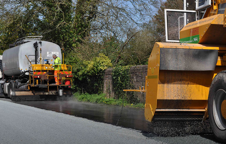 Road repairs in Dorset