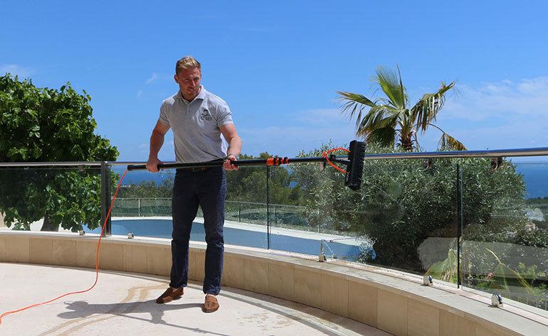 Luke at work in Majorca