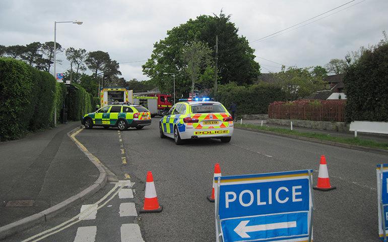 Police road closed Victoria Road