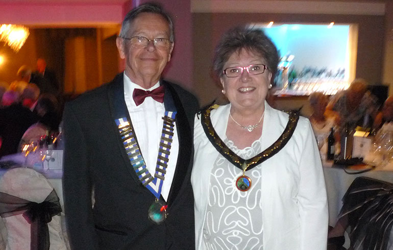 Cllr Mrs Sandra Grove and her consort Clive Grove