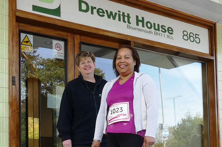 Dottie Husher with Gillian Drewitt of The Drewitt Group