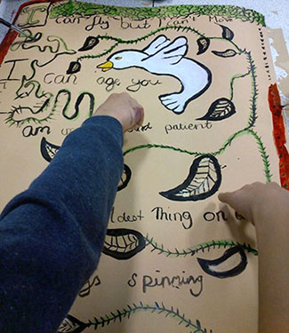 Wimborne Library creative workshop