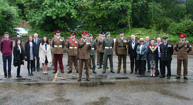 Armed Forces, Dignitaries and Purbeck School students