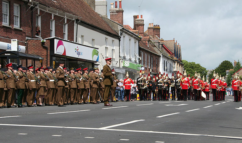 Armed Forces parade Wareham