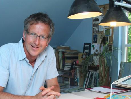 Illustrator Martin Brown in Studio