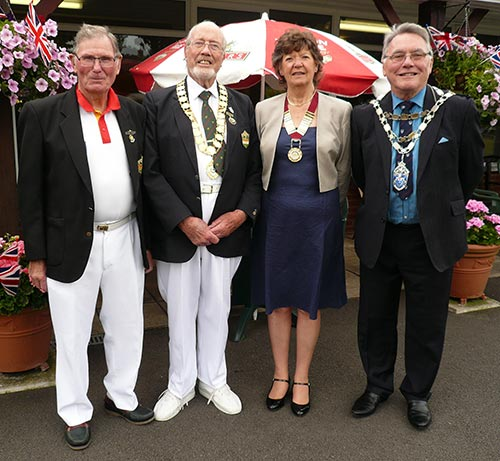 New Forest President Day dignitaries