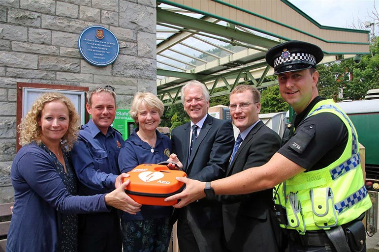 Swanage station defibrillator launch ANDREW PM WRIGHT