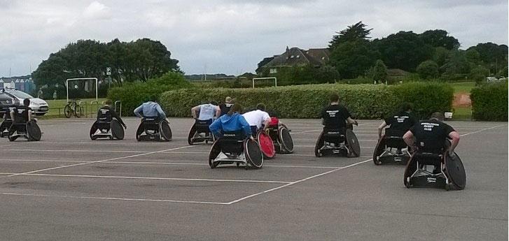 Wheelchair rugby Hamworthy Sport Festival