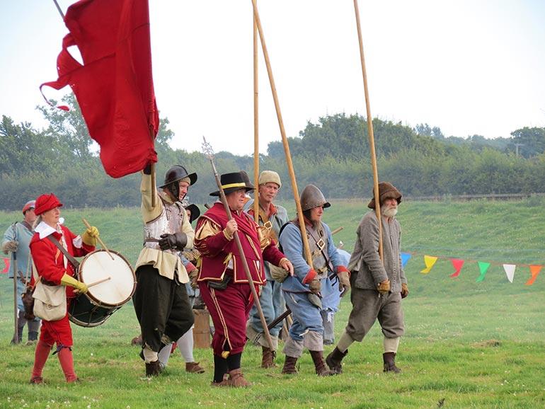 Wimborne History Festival - Civil War enactment. Photo by Liz Turner
