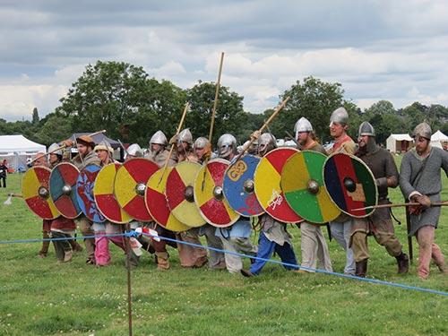 Wimborne History Festival - Vikings in armour