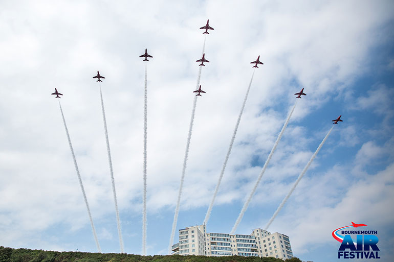 Bournemouth Air Festival: Red Arrows