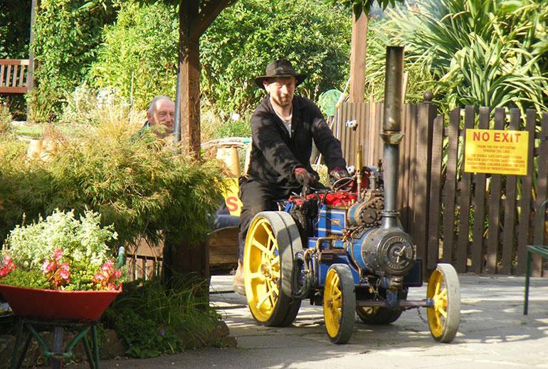 Mini Steam Ride at Wimborne Model Town