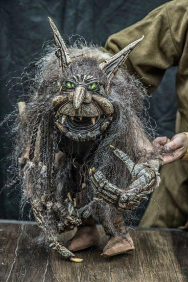 Grendel puppet, from Beowulf, at Priest's House Museum on Saturday 6 August