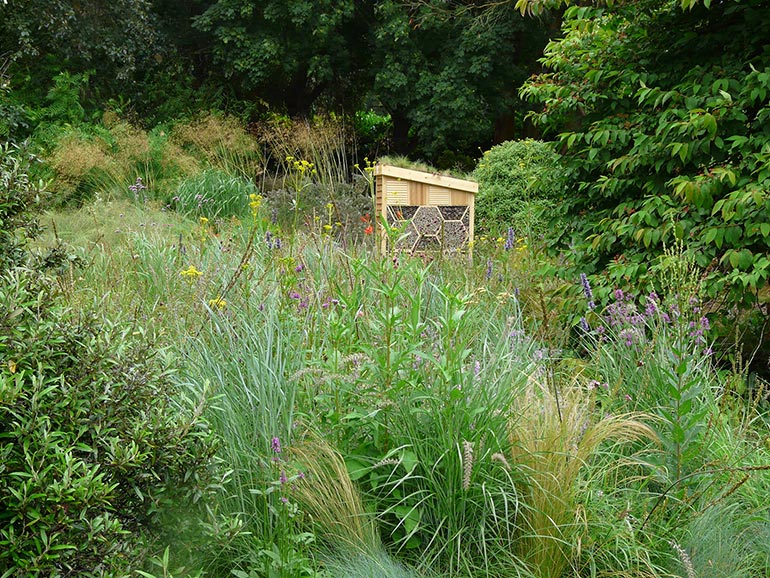 Knoll's luxury bee hotel awaits residents in the Sunny Meadow