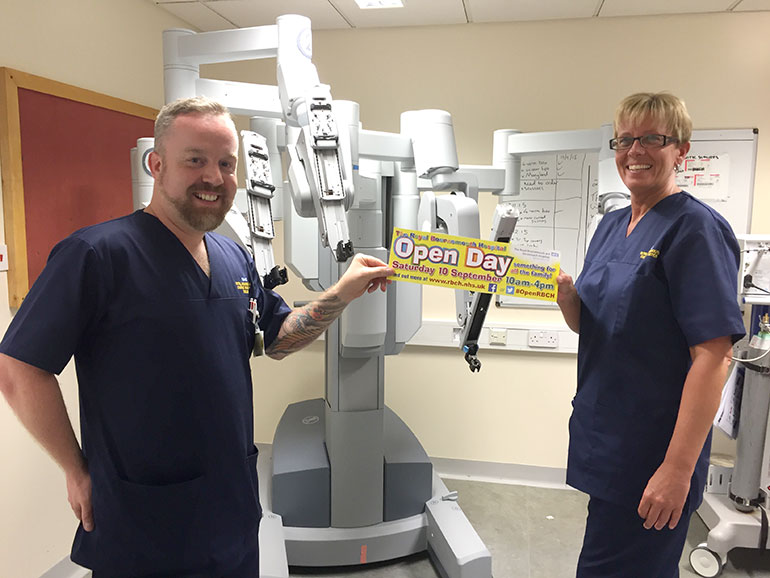 Da Vinci Robot at Bournemouth Hospital