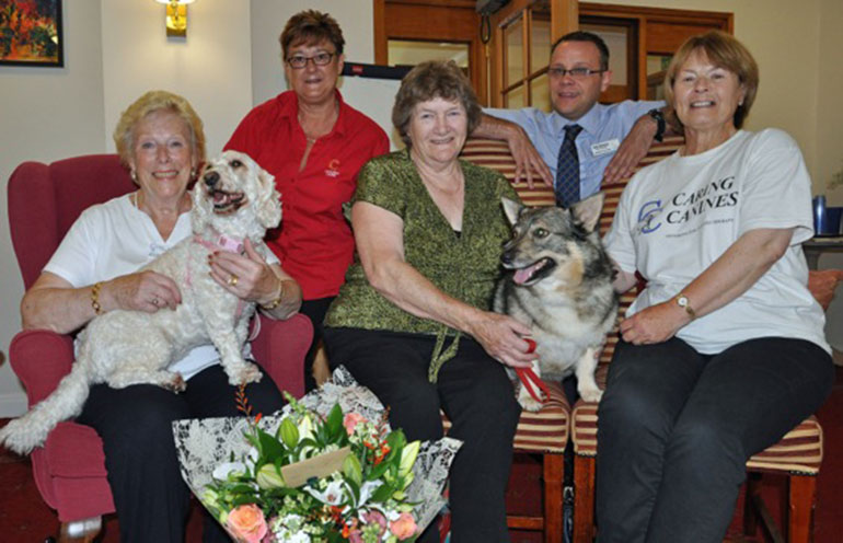 Caring Canines at Colten Care's Amberwood House