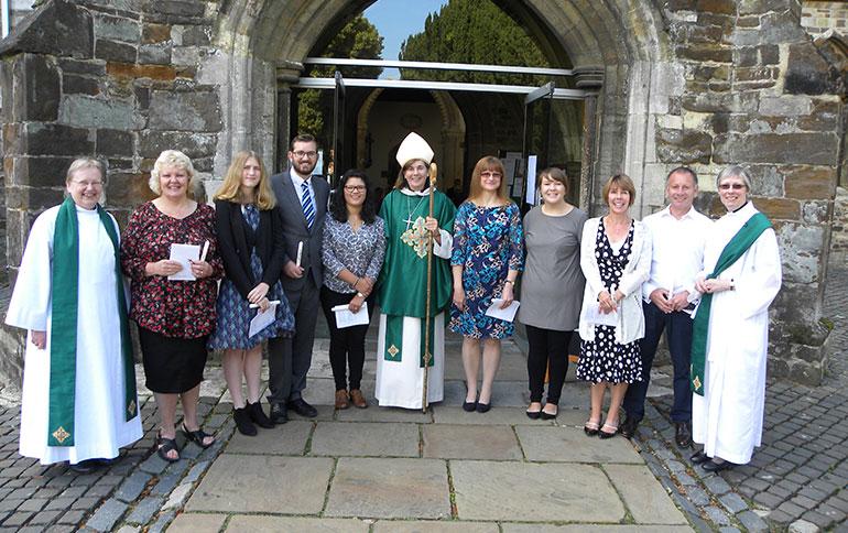 Bishop of Sherborne visits Wimborne Minster