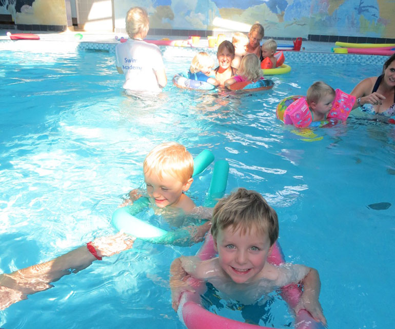 Swimming sessions for twins at Two Riversmeet