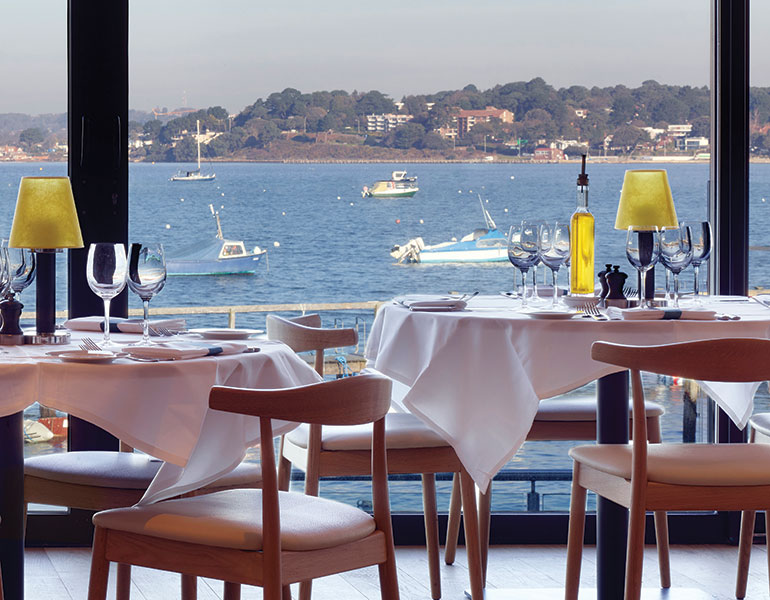 Table With A View Rick Stein Sandbanks By Janine Pulford