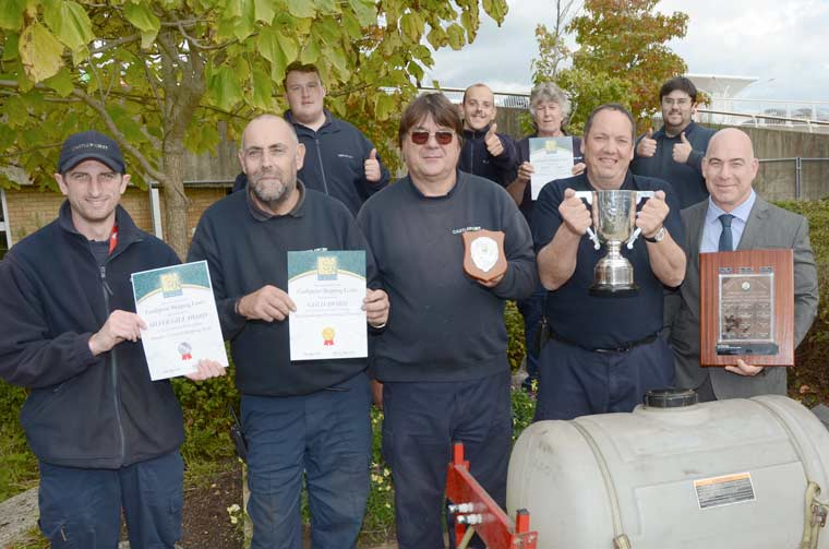 Sean Page (far right) and Steve Frost (2nd Right) with the Castlepoint Bournemouth In Bloom winners